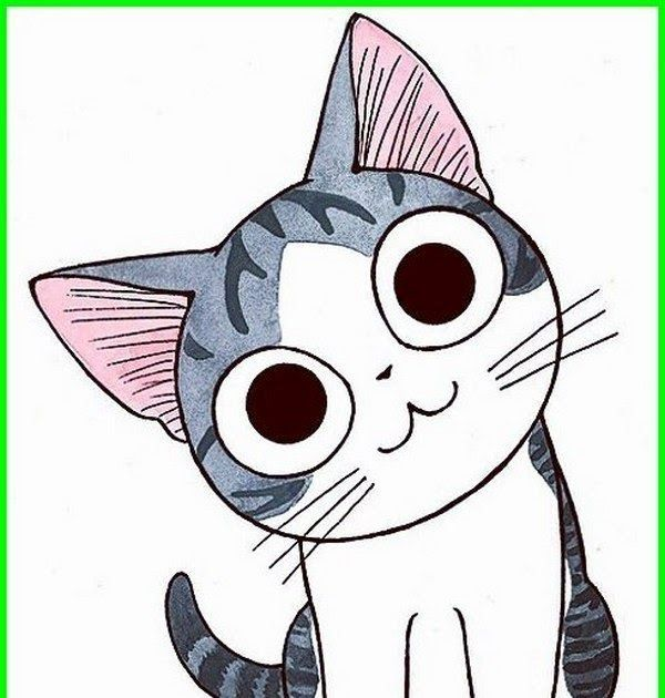 Gambar Kepala Kucing Kartun Lucu | Kartun, Menggambar ...