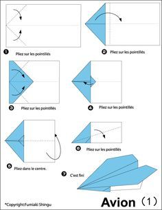 Avion en papier plus avion en papier pinterest avion - Comment faire un porte avion en papier ...