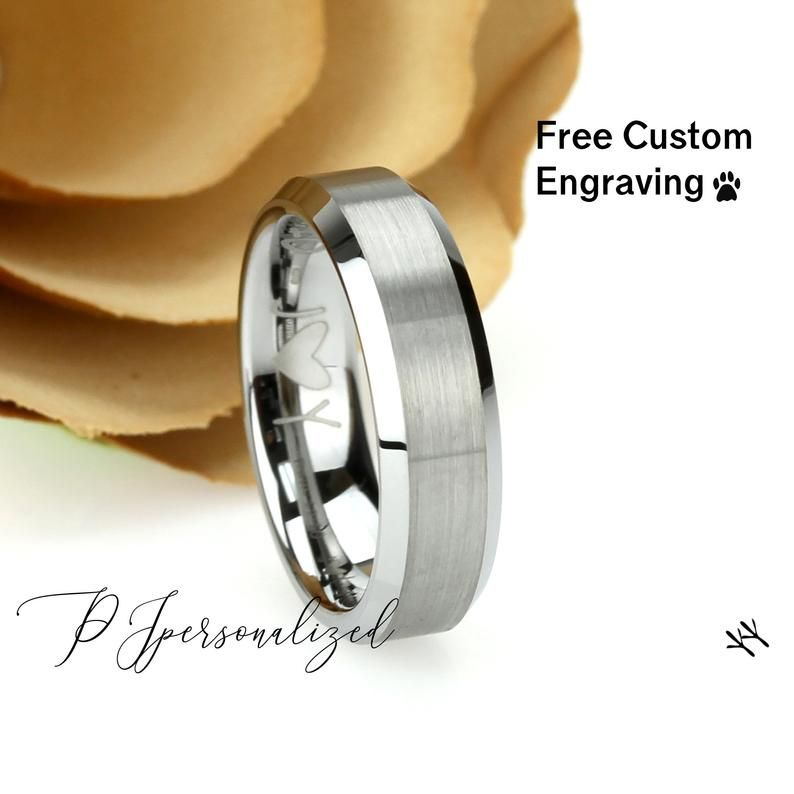 Father Gift Graduation Gift Mother Gift Personalized Wood Box Men Gift Valentine/'s Day Gift 8mm Mens Tungsten Ring Anniversary Gift
