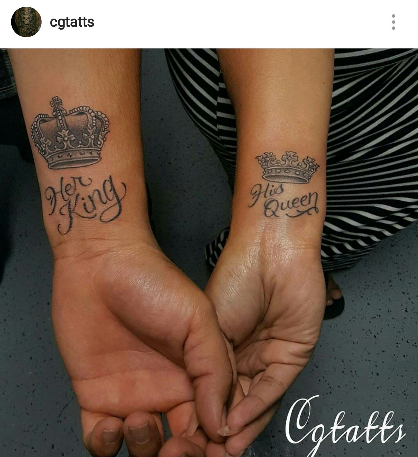 8f3fd7624212b Her King His queen tattoos | tatts | Queen tattoo, King tattoos, Tattoos