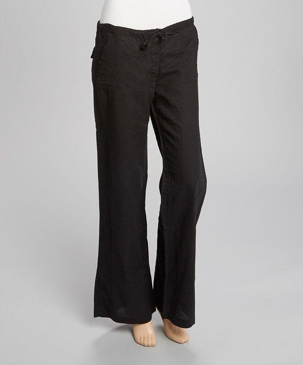 Love this Derek Heart Black Linen-Blend Lounge Pants by Derek Heart on #zulily! #zulilyfinds