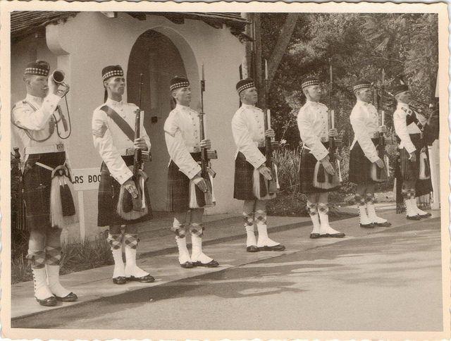 British; Gordon Highlanders, Quarter Guard for John Profumo in Kenya 1963
