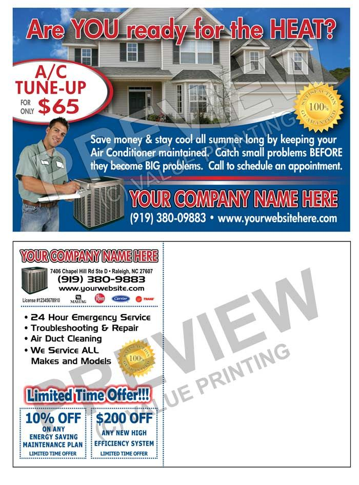 Send out Spring TuneUp post cards early in the season and