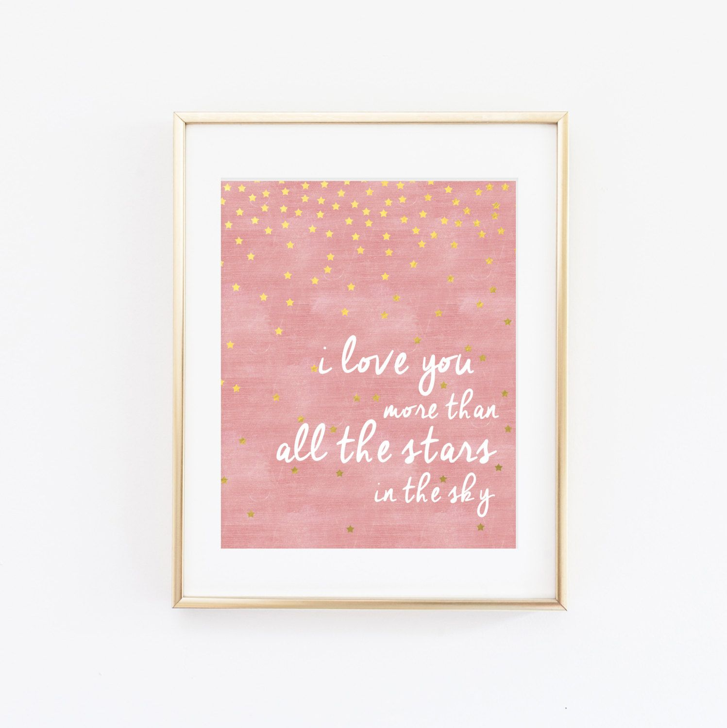 I love you more than all the stars in the sky nursery wall art art