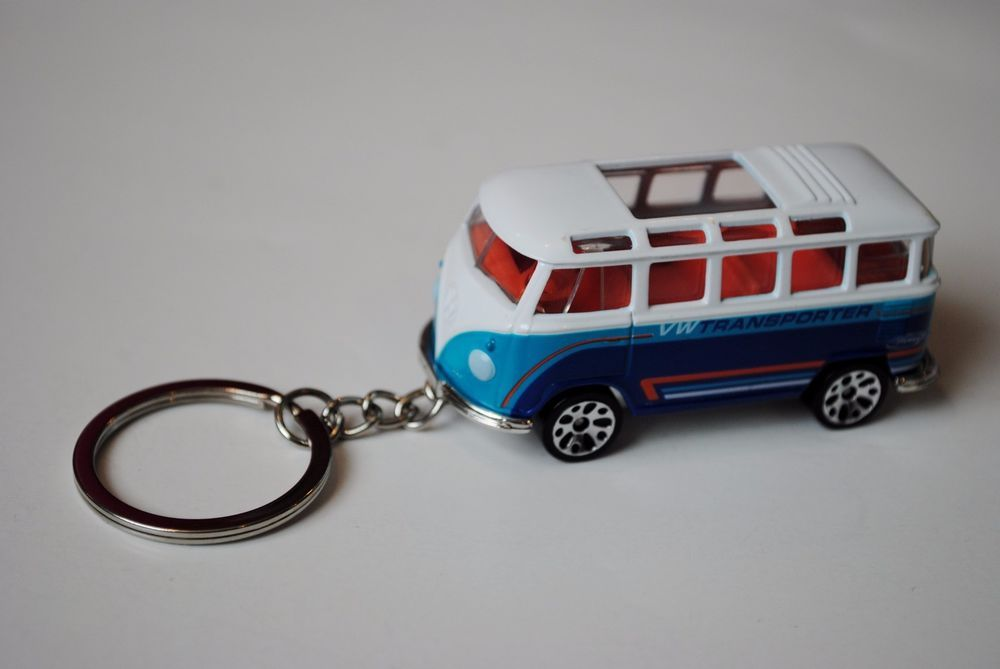 Custom Key Chain ring Matchbox VW Volkswagen window van transporter Car Camper #Matchbox