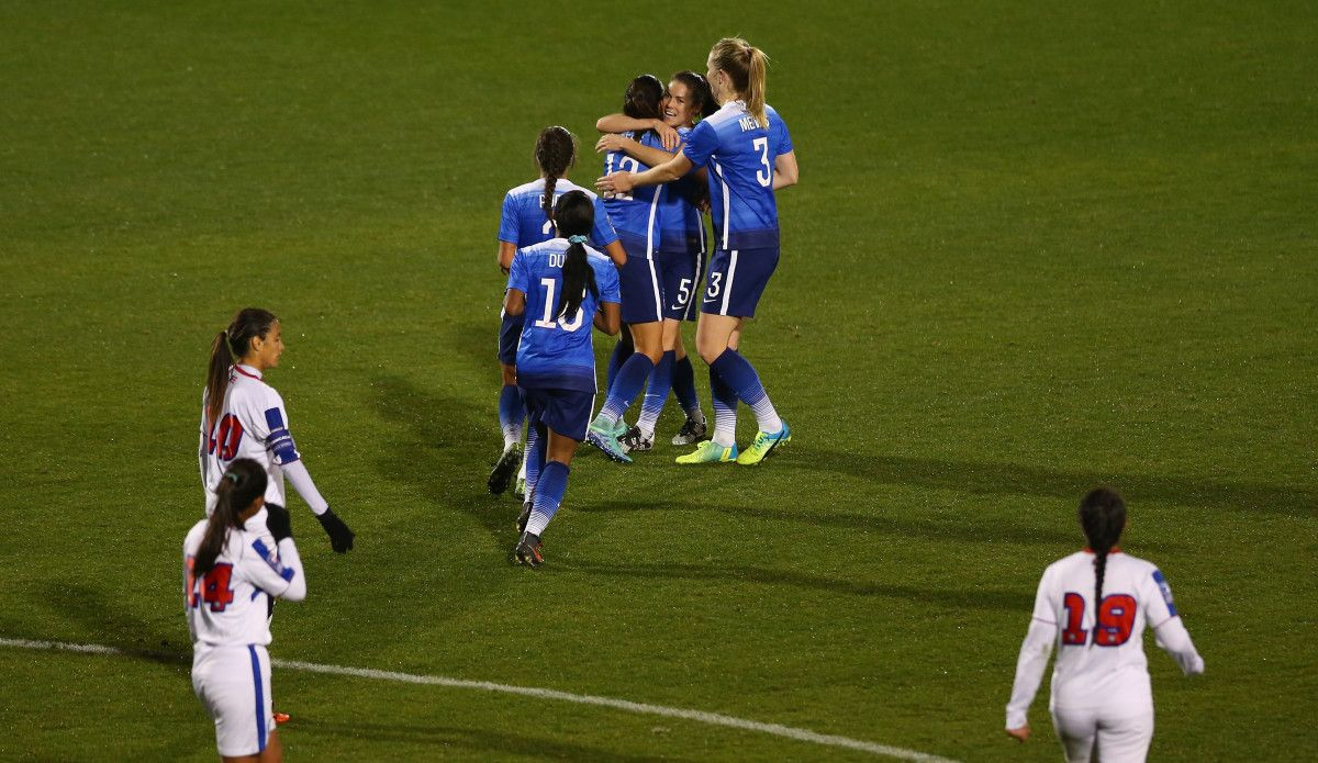 WATCH USWNT's festival of goals from a 100 win over