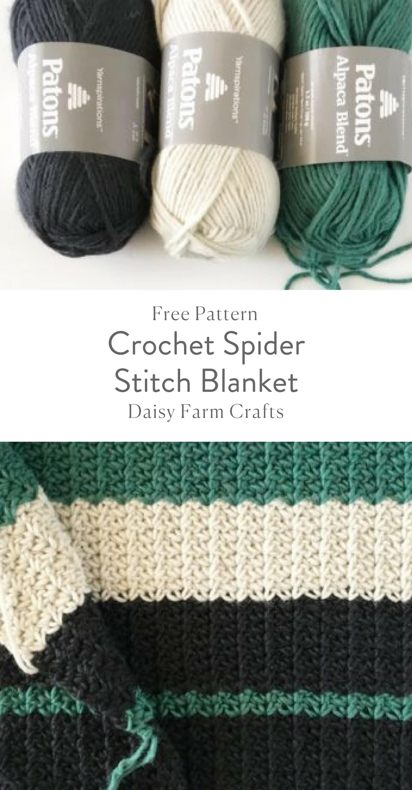 Free Pattern - Crochet Spider Stitch Blanket #CrochetAfghan ...