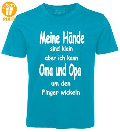 kinder spr che t shirt oma und opa t rkis gr e 98 t. Black Bedroom Furniture Sets. Home Design Ideas