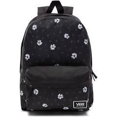 f54a95d84c Vans Realm Classic Backpack (Black Abstract Daisy)
