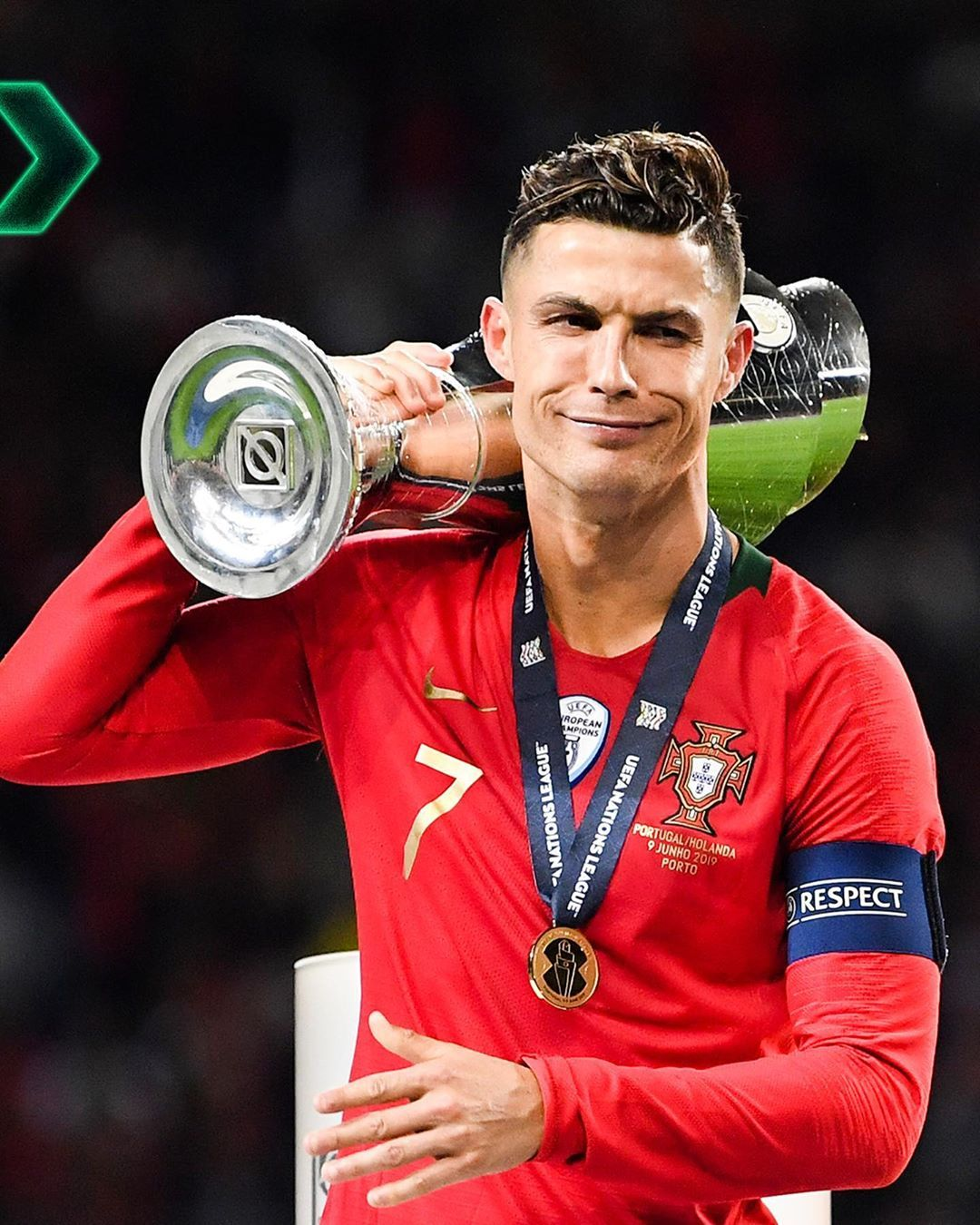 @portugal lift the first Nations League trophy ...
