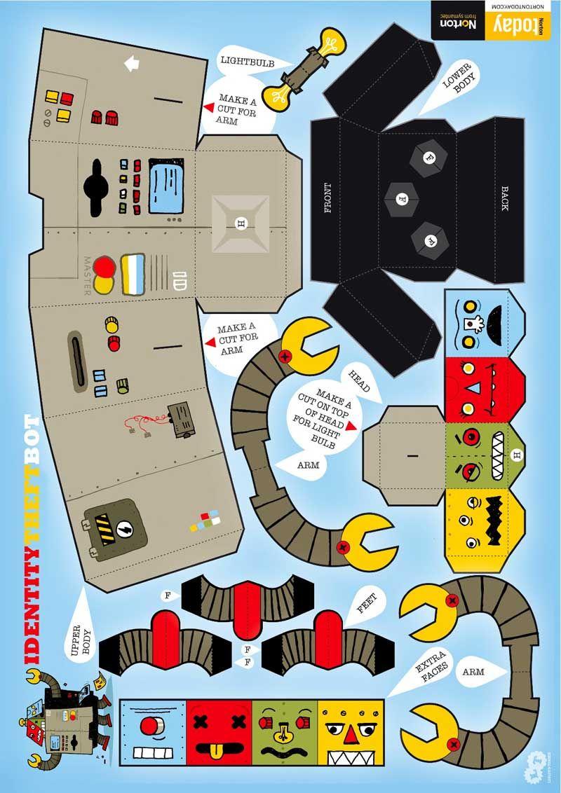papercraft | Robot Paper Craft | Kids Craft Studio | File under ...