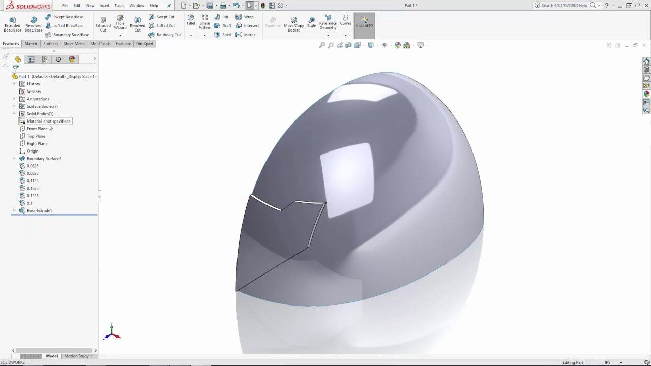SOLIDWORKS Wonder Woman's Tiara Tutorial - Part 1