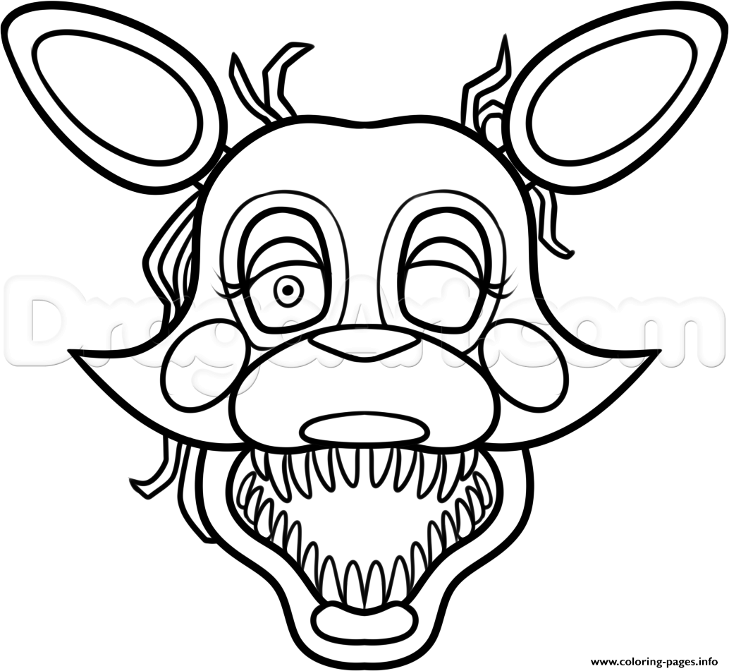 Mangle From Five Nights At Freddys 2 Fnaf Coloring Pages Sketch Coloring Page Fnaf Coloring Pages Coloring Pages Five Nights At Freddy S