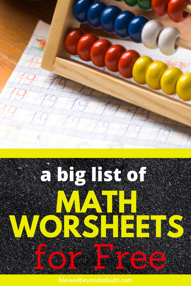 Free Math Worksheets For Kids Blessed Beyond A Doubt Kids Math Worksheets Free Math Free Math Worksheets [ 1102 x 735 Pixel ]