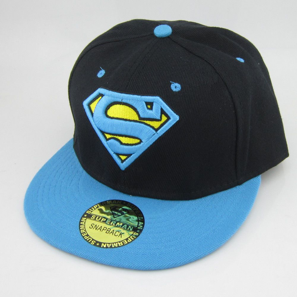 4889519d50a  10.99 - Black Blue Dc Superman Hiphop Snapback Adjustable Baseball Cap  Flat Hat Gift  ebay  Fashion