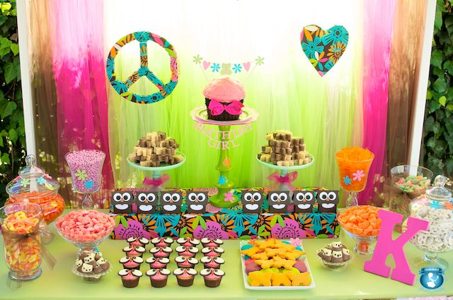 Peace Love and Owls 1st Birthday Party Party Ideas