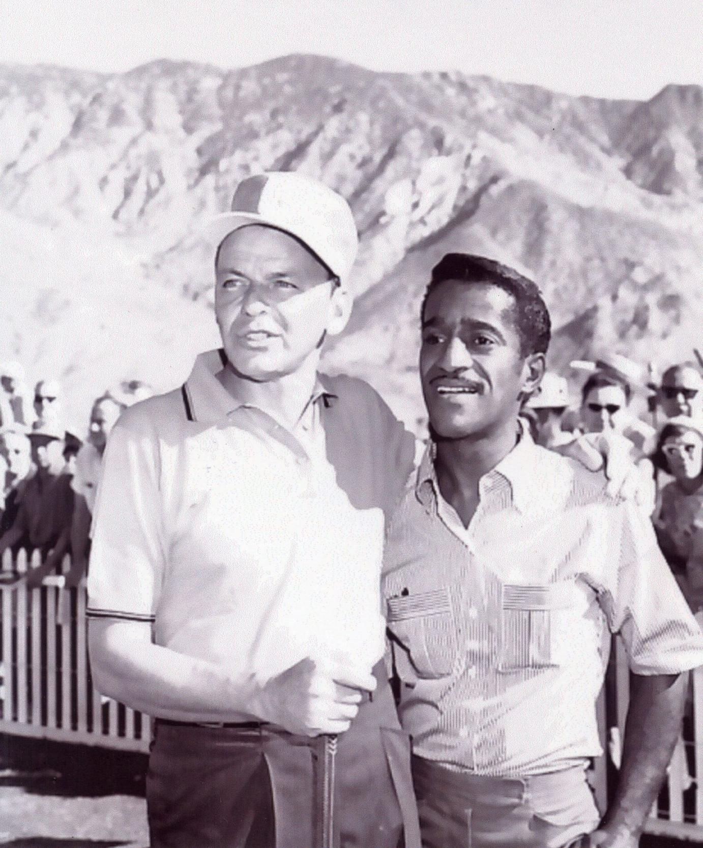Frank Sinatra + Sammy Davis, Jr. Golfing In Palm Springs