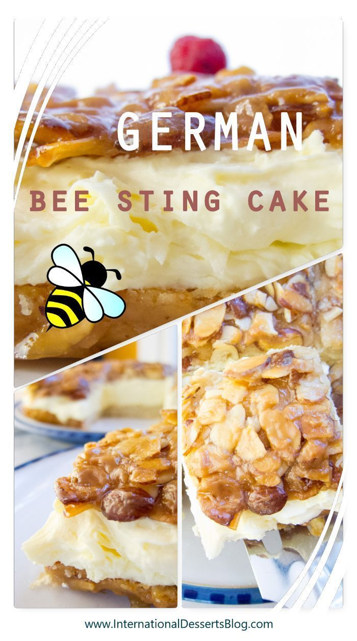 Deutscher Bienenstich Mit Bildern Bienenstich Kuchen Bienenstich Rezept Bienenstich