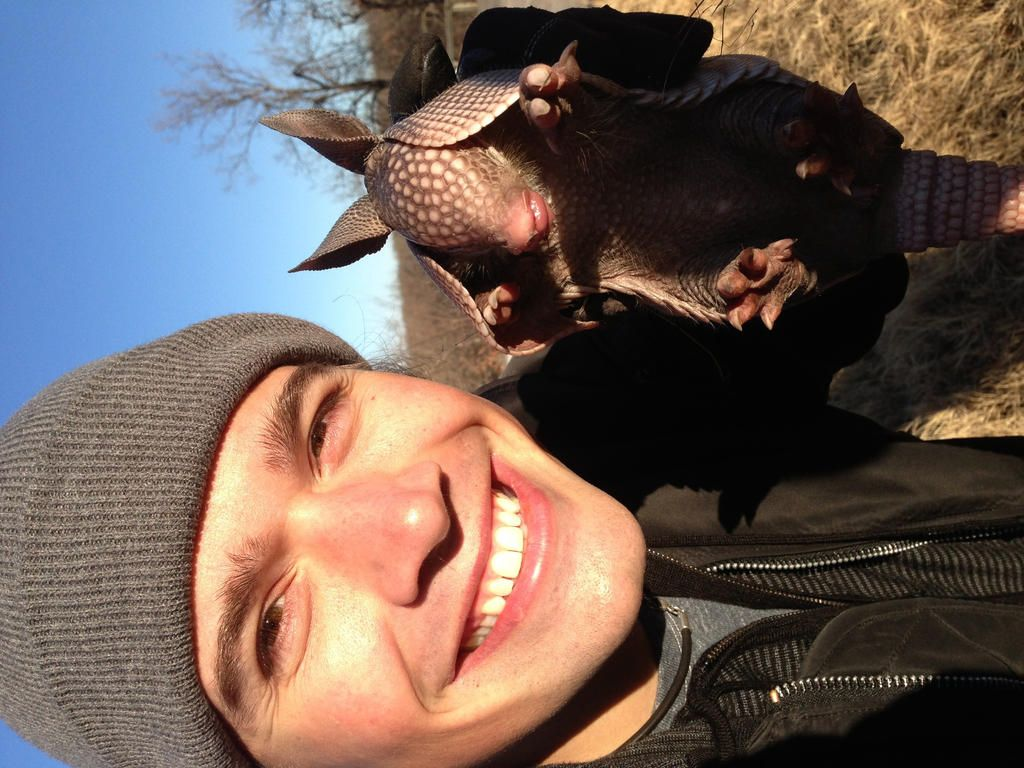 Twitter / Recent images by @hansonmusic....Zac w a baby armadillo!