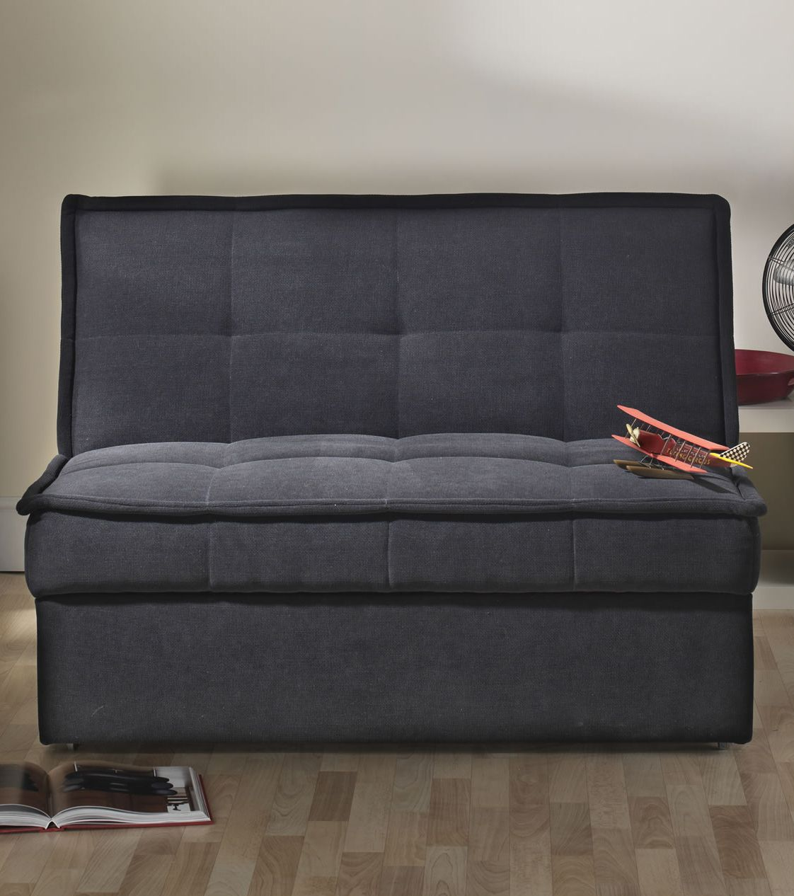 fold out sofa bed uk fabric and leather sofas solar black compact living reading nooks