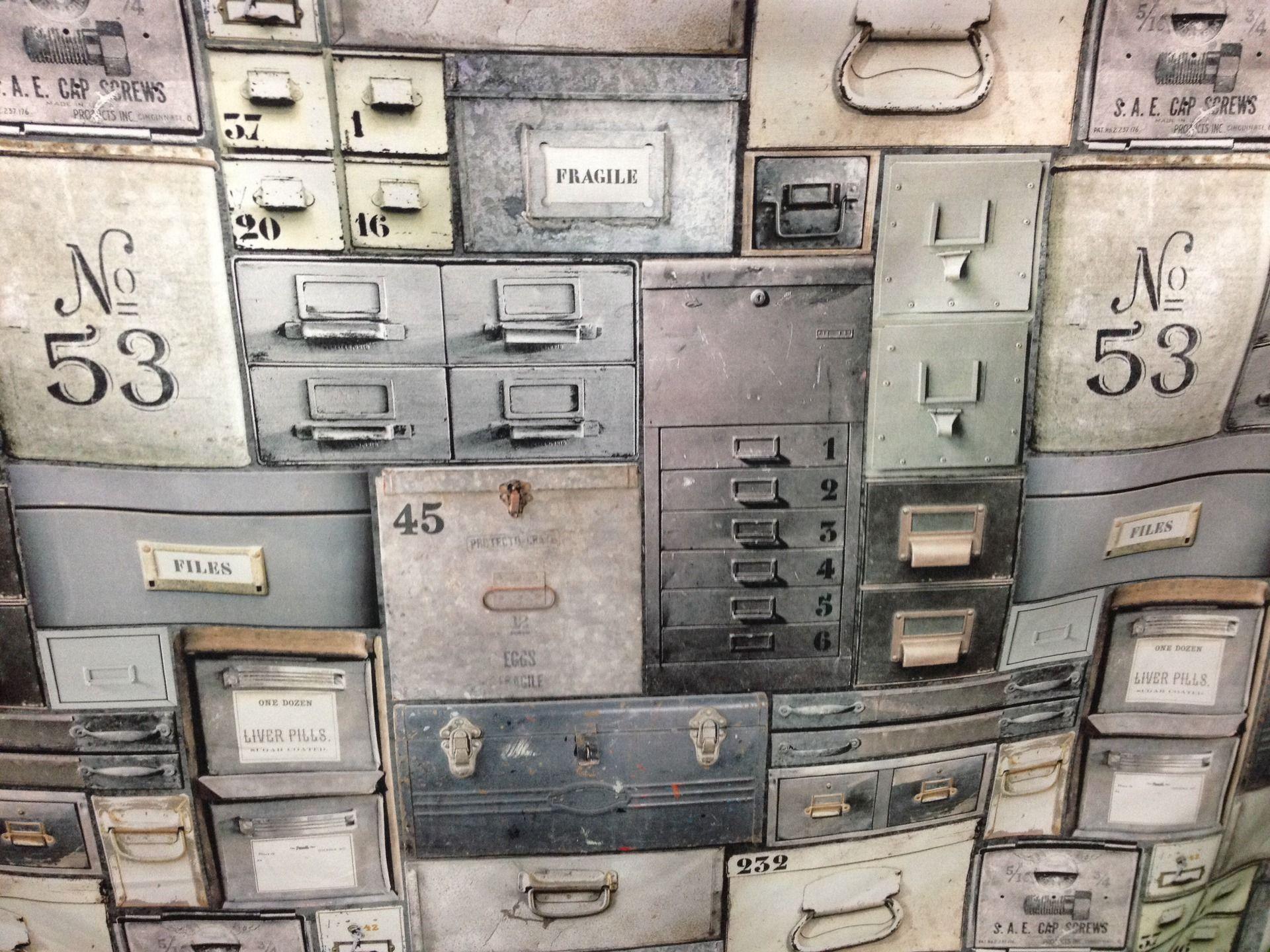 tissus vintage meuble industriel en 1