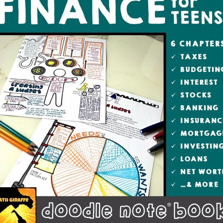 Personal Finance for Teens Doodle Note Book in 2020