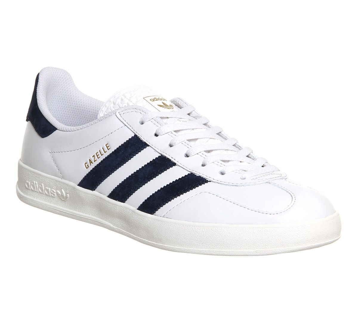 buy online f086b f78ed Adidas Gazelle Indoor Vintage White Leather Exclusive - His trainers    WEAR  Footwear   Pinterest   Adidas gazelle, White leather and Adidas