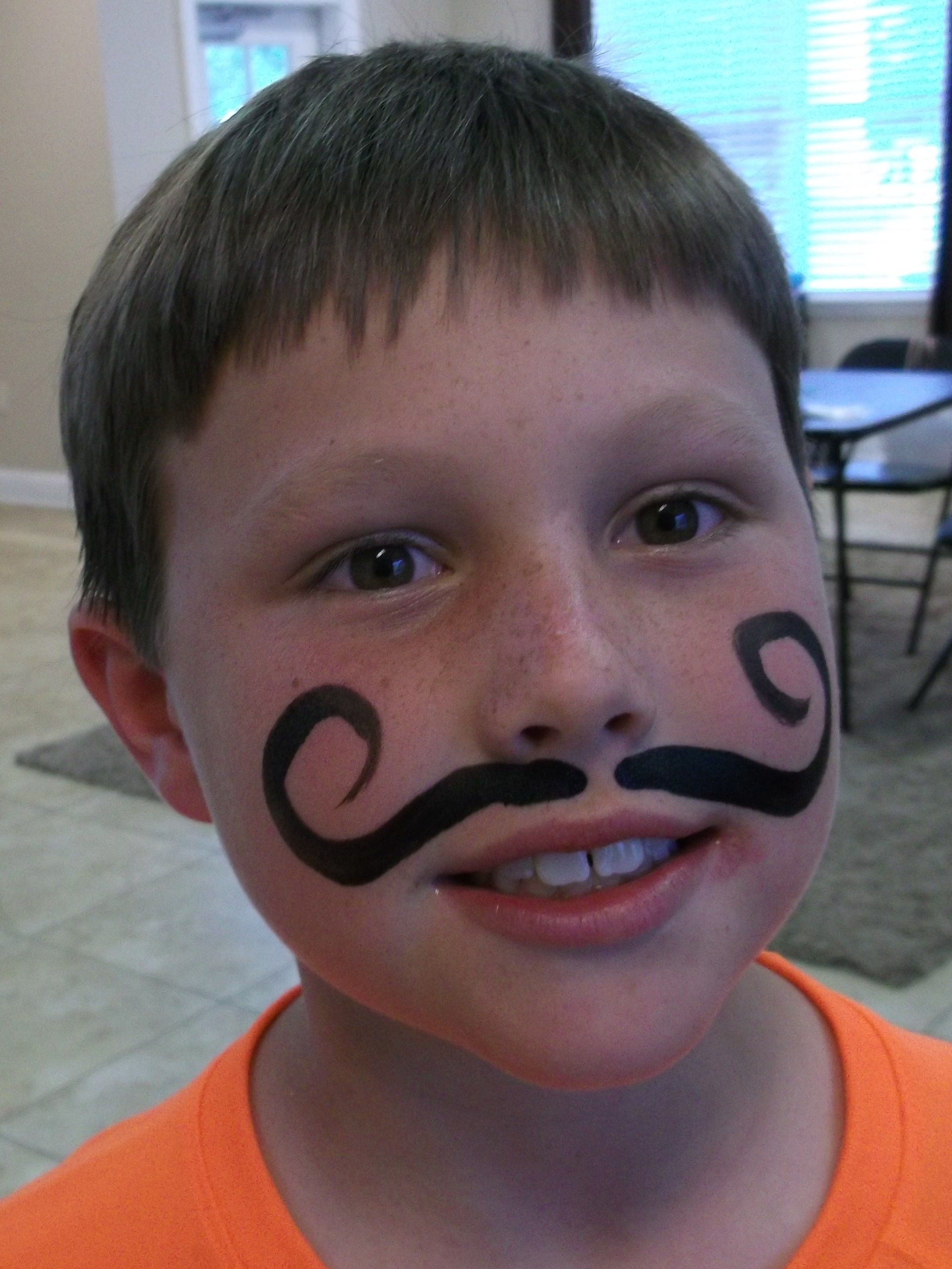 Face Paint Mustache - Google Painting Boys Easy