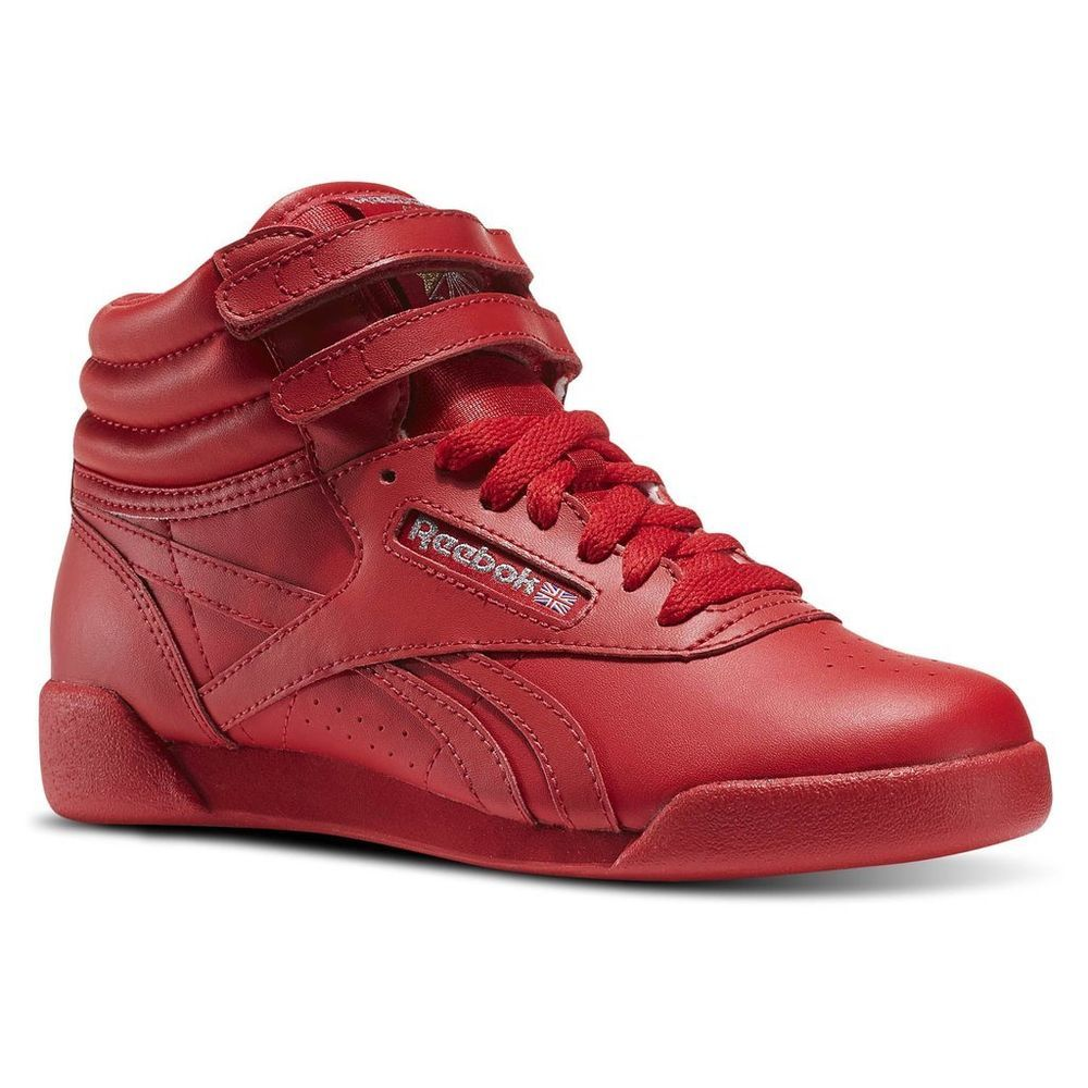 Reebok Freestyle Red High Top Trainers | Reebok freestyle