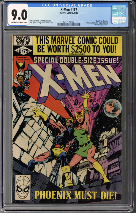 X Men 137 Cgc 9 0 Marvel Comic Books Xmen Comics Marvel Comics Covers