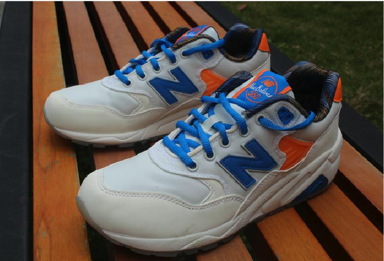 New Balance MRT580GG Beige Blue Orange RevLite Sneakers  db18f20c9f