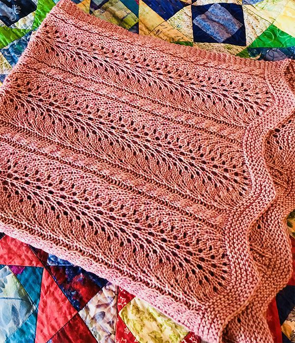 Free Knitting Pattern For 4 Row Repeat Summer Waves Baby