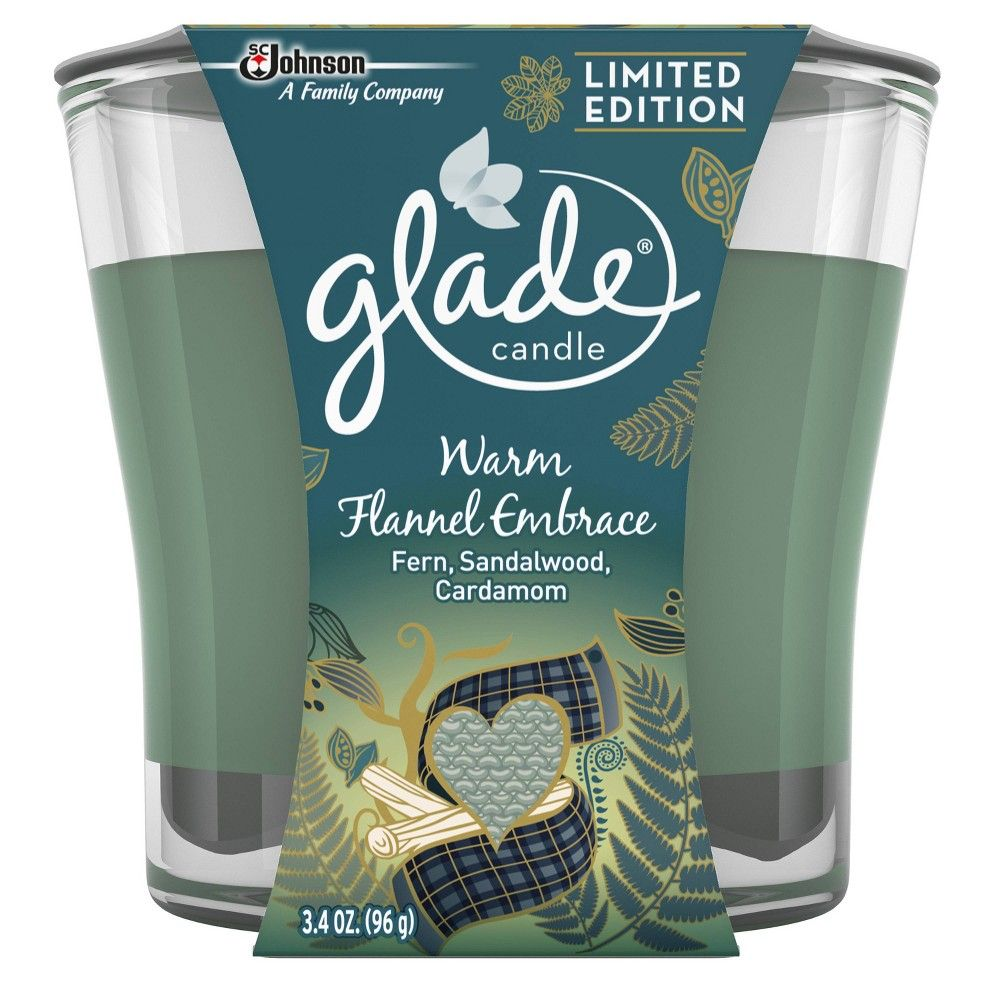4 Glade Sparkling Spruce Timeless Joy 3.4oz Jar Candles
