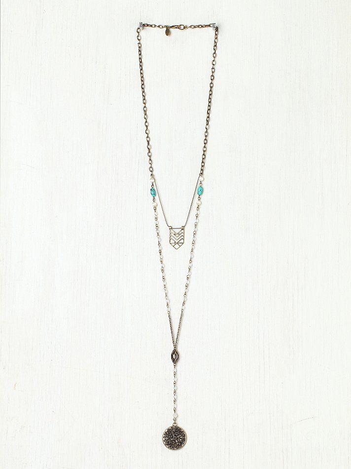 211821f34 Free People Double Layer Rosary at Free People Clothing Boutique ...