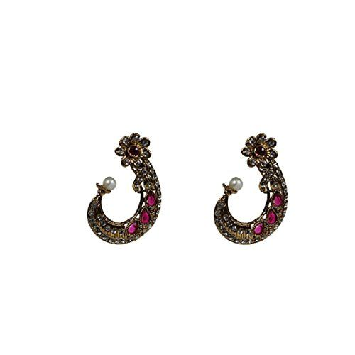 VVS Jewellers Indian Bollywood style Gold Plated Pink Whi…