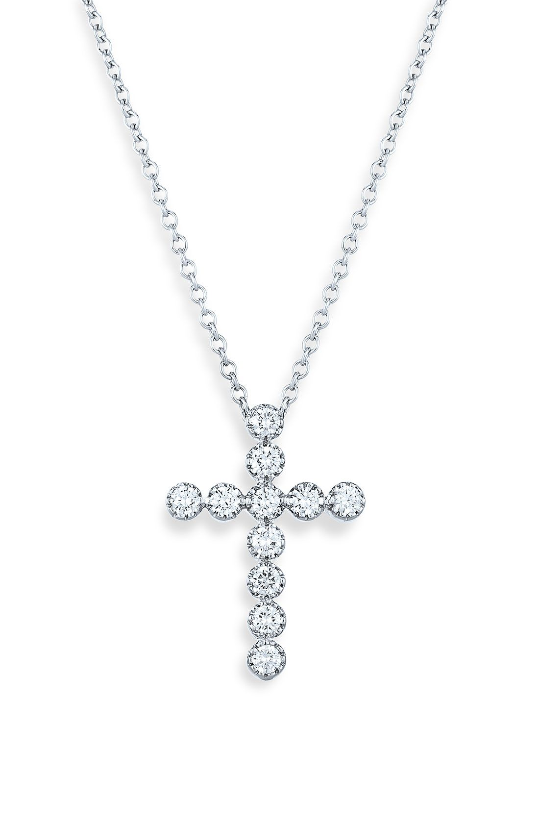 Fine Jewelry Personalized 14K Gold Over Sterling Silver Cross Pendant Necklace YENFG