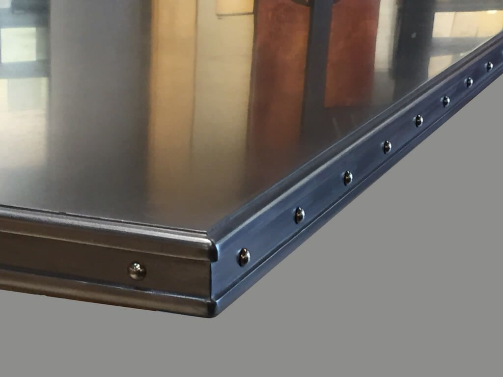 Commercial Stainless Steel Bar Top With Artisan Cast Edge Profile
