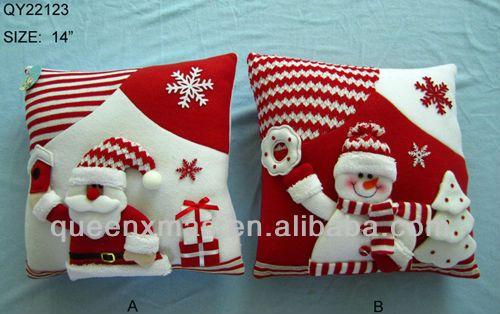 Tela de navidad coj n adornos navide os identificaci n del - Adornos navidenos tela ...
