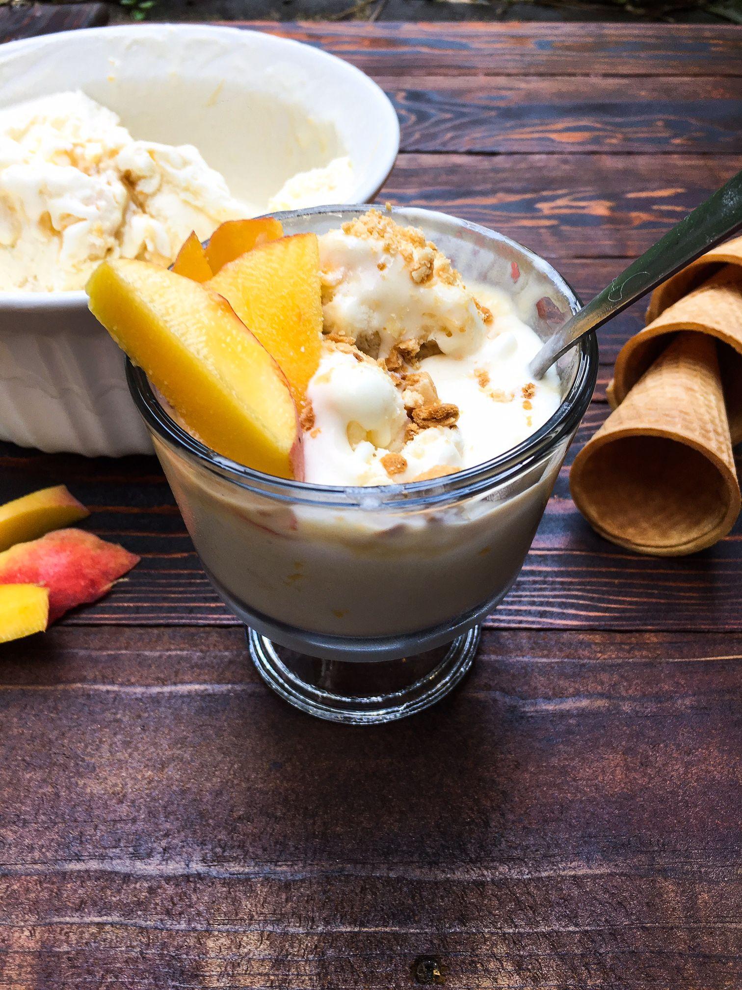 No churn peach and caramel ice cream caramel ice cream