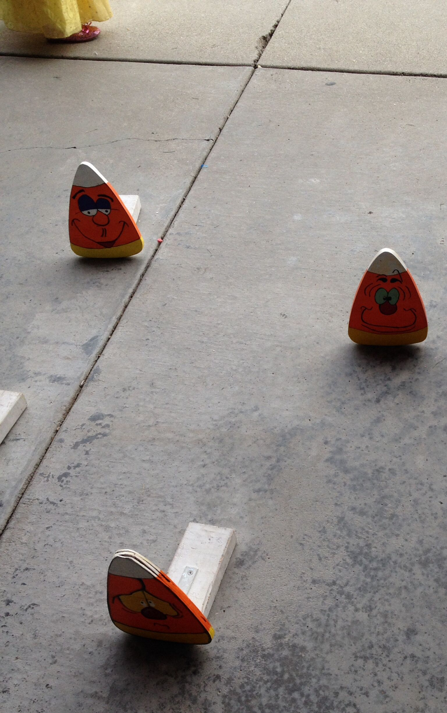 Candy corn ring toss game at Carnival