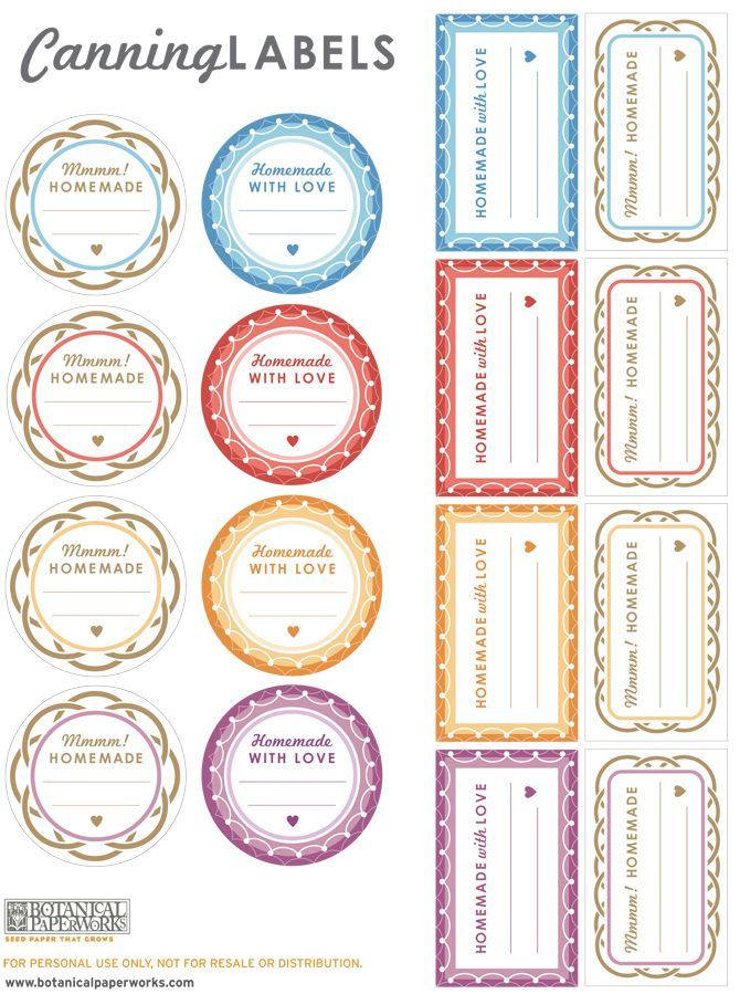 Love The Cute Patterns And Great Colors Of These Free Printable Canning Labels