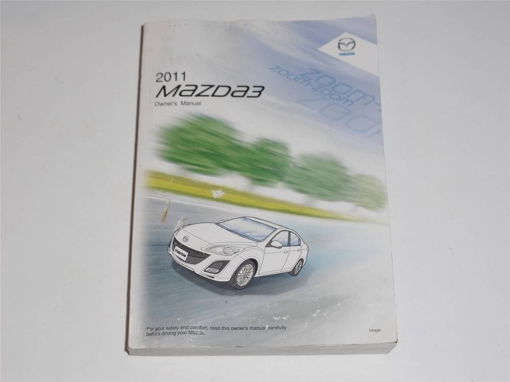 2011 Mazda 3 Owners Manual Book