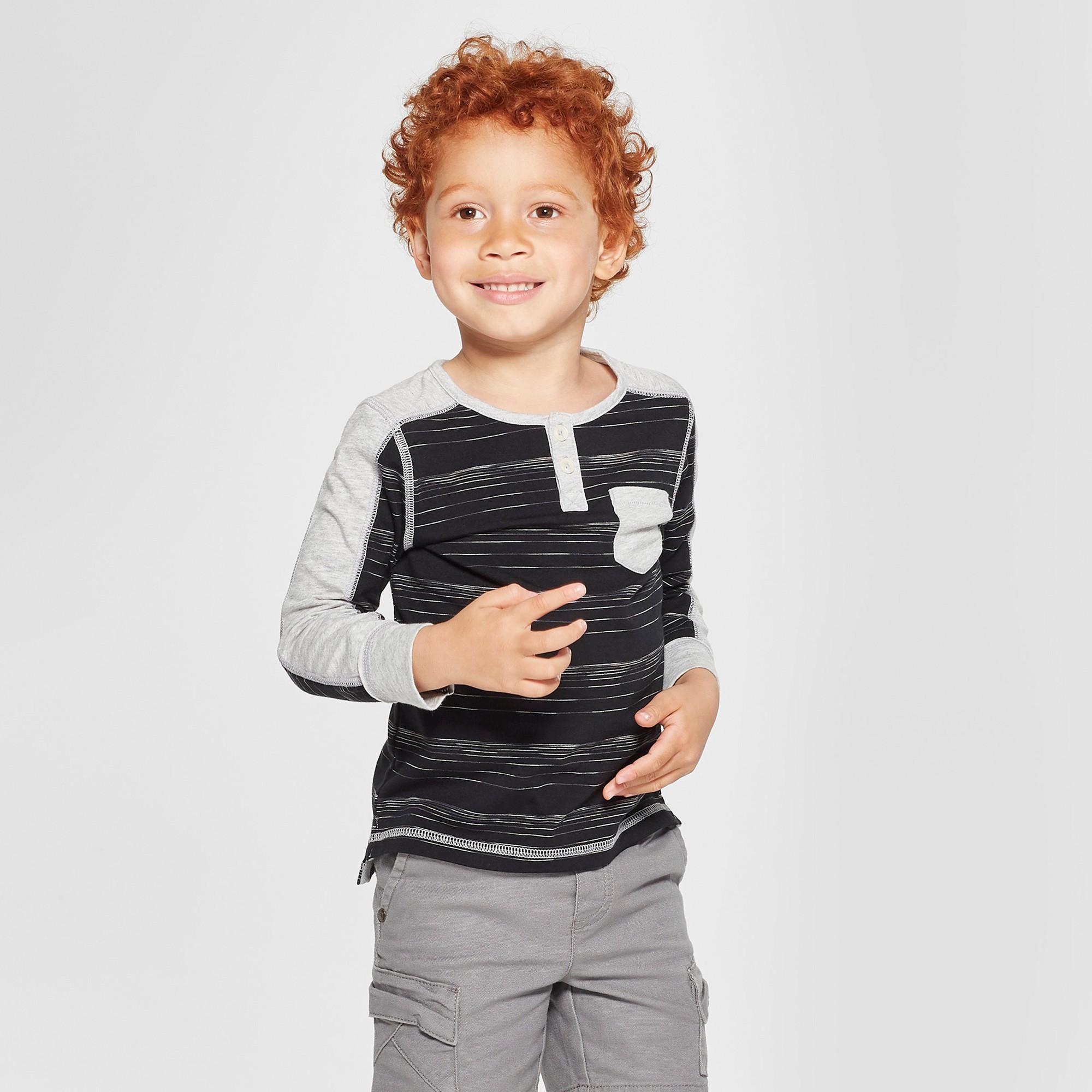 23963d6ec Toddler Boys  Genuine Kids from OshKosh Long Sleeve Placket Henley ...