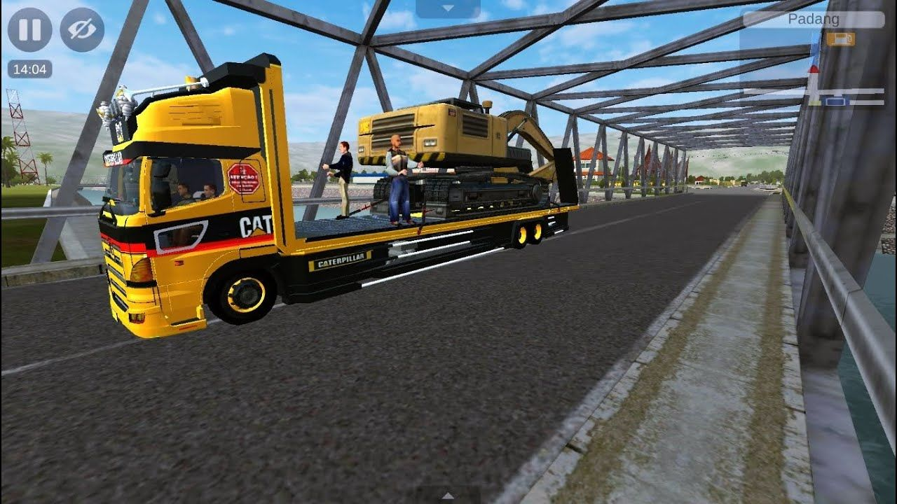 Mobil Truk Tronton Hino Muat Alat Berat Excavator Mainan Anak Beko Keruk Ekskavator Truk Mobil Mainan Anak