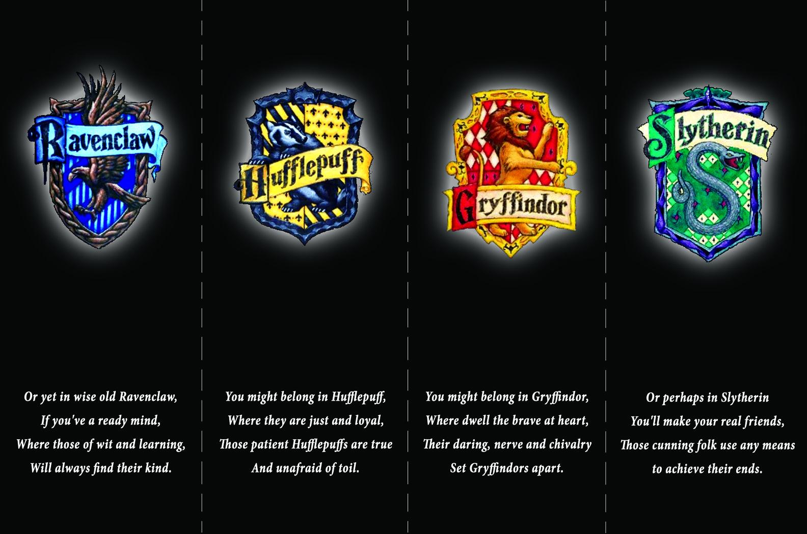 Harry Potter Bookmarks The Four Houses Of Hogwarts From Skiffleboom Com Harry Potter Bookmark Harry Potter Hogwarts Houses Harry Potter Houses