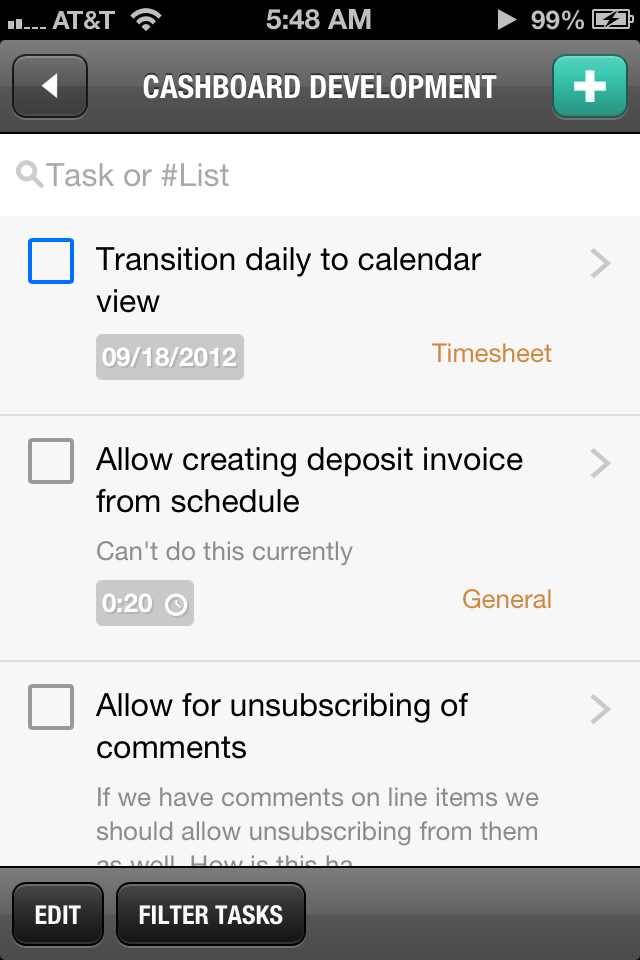 Cashboard Mobile Task Manager App Invoice Management Invoice Template