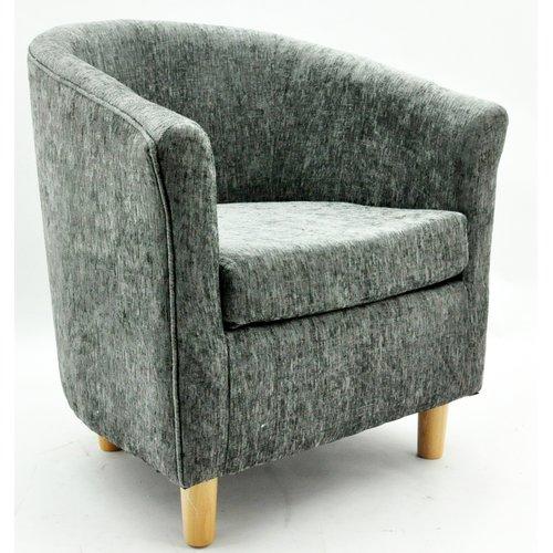 Jamel Tub Chair Metro Lane Upholstery Colour Dark Grey Tub