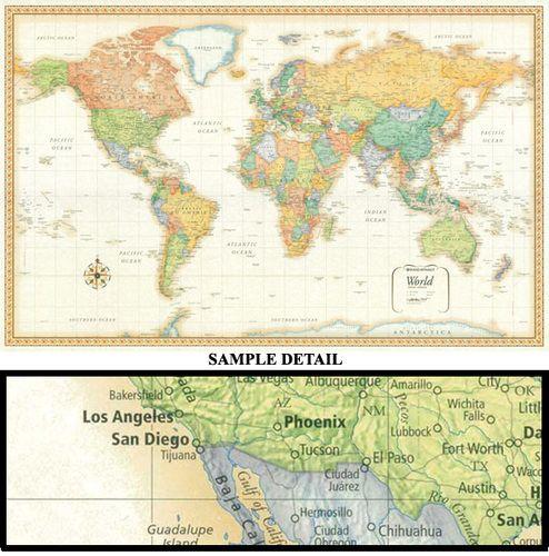 Classic Edition World Wall Map X Paper - World wall map kids