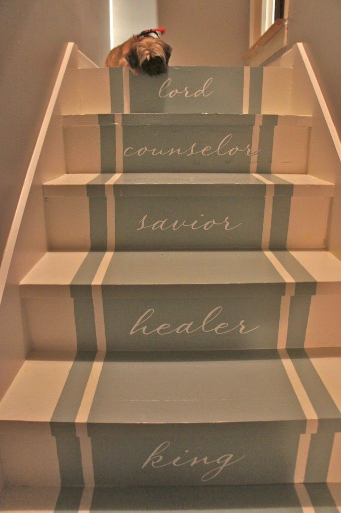 Merveilleux Painted Stairs | Stair Makeover