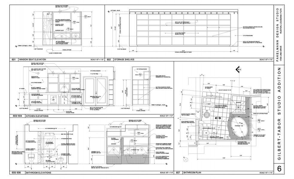 Elevation And Plan Difference : Interior elevations and bathroom plan sections